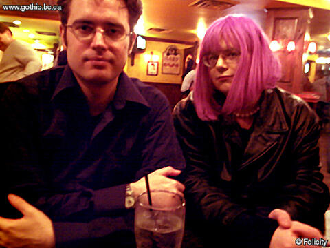Ryan and Felicity at the first Richmond Goth Elysium