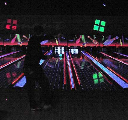 Glowing bowling at Xcalibur.