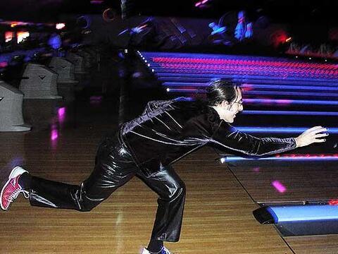 Glowing bowling at Xcalibur.