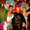 Felicity with the Tropicana Girls at Samba Brazilian Steakhouse before Sin City